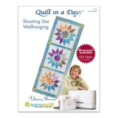 Shooting Stars Wallhanging or Runner Quilting Ideas, Quilt Patterns, Midnight Quilt Show, All People Quilt, American Patchwork And Quilting, Quilt In A Day, Shooting Stars, Free Sewing, Wall Hangings