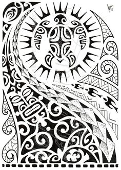 Polynesian Designs And Patterns | design, done for a design contest with many elements of the polynesian ...