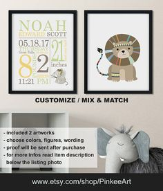 Monochrome jungle baby room decor jungle birth announcement monochrome jungle baby room decor jungle birth announcement safari nursery decor monochrome personalized baby gifts printcanvasdigi jungle baby room negle Images