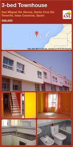 3-bed Townhouse in San Miguel De Abona, Santa Cruz De Tenerife, Islas Canarias, Spain ►€88,600 #PropertyForSaleInSpain