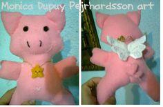 Mi nuevo trabajo: Otro cerdo volador!  My new craft: Another flying piglet!