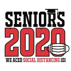 Seniors 2020 Social Distancing T Shirt Design 8th Grade Graduation, Graduation Diy, Graduation Pictures, Senior Class Shirts, Graduation Shirts For Family, Graduation Party Planning, T Shirt Design Template, Graduation Cap Decoration, Class Of 2020