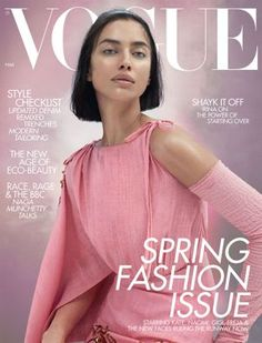 Supermodel Irina Shayk takes the cover of British Vogue Magazine's March 2020 edition lensed by fashion photography duo Mert and Marcus. Irina Shayk, Vogue Magazine Covers, Vogue Covers, Vogue Uk, Teen Vogue, How To Look Pretty, Pretty In Pink, Modern Tailor, Eco Beauty