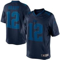 """$23.88 at """"MaryJersey"""" (maryjerseyelway@gmail.com) #12 Tom Brady, #87 Rob Gronkowski - Nike Patriots Navy Blue Men's Embroidered NFL Drenched Limited Jersey"""