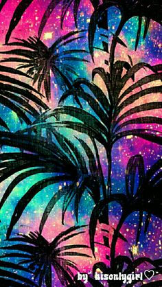 Palms galaxy wallpaper I created for the app CocoPPa