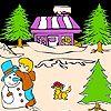 Noite de Natal e gato para colorir - http://www.jogarjogosonlinegratis.com.br/jogos-de-customizar/noite-de-natal-e-gato-para-colorir/
