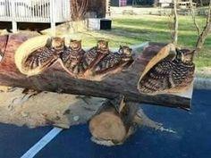 Carving - wood / Vyrezávanie do dreva Chainsaw Wood Carving, Dremel Wood Carving, Wood Carving Art, Tree Carving, Wood Carvings, Tree Sculpture, Sculptures, Sculpture Ideas, Chain Saw Art