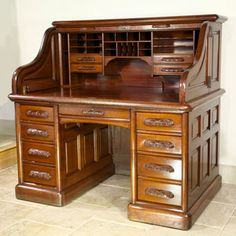 Oak Bedroom Furniture With Rolled Top Desk