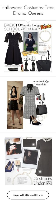 """""""Halloween Costumes: Teen Drama Queens"""" by polyvore-editorial ❤ liked on Polyvore featuring halloweencostumes, Ted Baker, Bobbi Brown Cosmetics, Kate Spade, Lord & Taylor, Anne Sisteron, Yves Saint Laurent, Jayson Home, George and JustFab"""