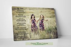 Custom poem, Personalized photo print with quote, Personalized Poetry, Poem for sister, Unique Gift, Sister gift for Christmas Sister Poems, Mom Poems, Sister Gifts, Sister Quotes, Daughter Quotes, Father Daughter, Family Quotes, Tree Canvas, Canvas Wall Art
