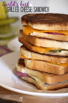 World's Best Grilled Cheese Sandwich