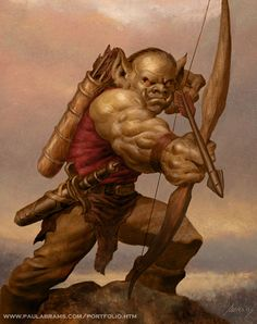 Goblin Archer by PaulAbrams ranger monster beast creature animal | Create your own roleplaying game material w/ RPG Bard: www.rpgbard.com | Writing inspiration for Dungeons and Dragons DND D&D Pathfinder PFRPG Warhammer 40k Star Wars Shadowrun Call of Cthulhu Lord of the Rings LoTR + d20 fantasy science fiction scifi horror design | Not Trusty Sword art: click artwork for source