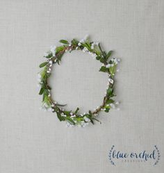 Flower Crown, Boho Wedding, Green Flower Crown, Greenery, Floral Crown, Baby's Breath, Faux Baby's Breath Crown, Wedding Crown, Eucalyptus by blueorchidcreations on Etsy