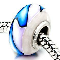 Pugster Pale Blue Purple Stripes Beads Fits Pandora Charm Bracelet Pugster. $12.49. Color: pale blue,pale purple. Weight (gram): 1.3. Size (mm): 9.06*14.66*14.66. Metal: ploymer clay