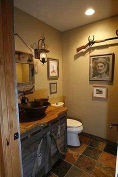 77 best cabin bathrooms images cabin bathrooms gatlinburg cabin rh pinterest com Cabin Wall Decor Rustic Log Cabin Decor