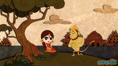 Cute little cartoon explaining the story of Diwali.
