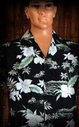 Hawaii Shirt - Black Orchid