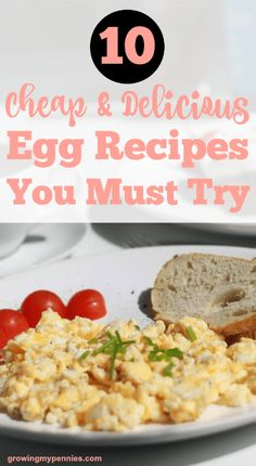 Eggs are a great food to always have on hand. They're cheap, nutritious, and versatile. Here are some egg recipes you should try today!
