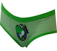 Nintendo Super Mario Yoshi Green Bikini Panty for women