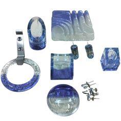 Complete Set of Rare Vistosi Glass Bathroom Fixtures Glass Bathroom, Bathroom Fixtures, Yves Klein Blue, Toilet Brush, Murano Glass, Unique Art, Toilet Paper, Miami, Soap