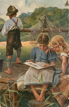 Tuck DB postcards - Child - Life in the country.Oilette, listed in 1914 Postcard Catalogues, listed in TUCK'S TRAVELOGUES (USA?1905)