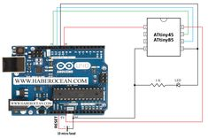 Steps for programming ATtiny45 / ATtiny85 using Arduino Uno  Read more at :  http://www.haberocean.com/2015/09/steps-for-programming-attiny45-attiny85-using-arduino-uno/