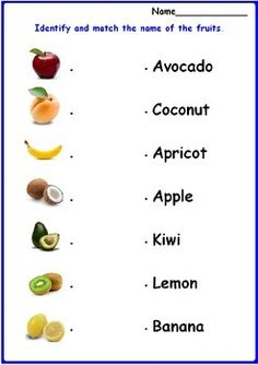 This is a great worksheet to verify if students know the fruits vocabulary. Good for children with autism and special needs.This page is included in the following productIdentifying and Matching Fruits Worksheets Follow me on Pinterest Follow me on Facebook LEAVE FEEDBACK AND RECEIVE TPT CREDIT!Dear buyer, I wanted to remind you about the fact that you can build up TPT credit by leaving feedback on my products.