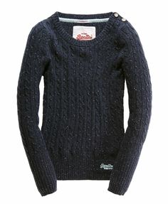 Superdry Croyde Cable Crew love the shoulder buttons