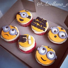 Cupcakes Minions Toppers