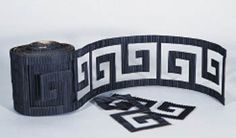 Save on a roll of our black Oriental corrugated border for your Asian party or event.