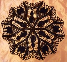 Black Cat Halloween Doily free pattern