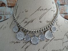 Beautiful silver link necklace with pave crystals! cindysfaves.com #cindysfaves