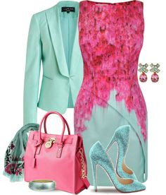 """Pink & Mint"" by yasminasdream on Polyvore"