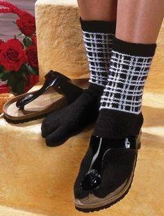 Sandal socks - Free Pattern