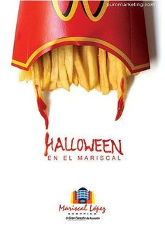Mc Donalds in Halloween advertising Graphic Design Lessons, Food Graphic Design, Food Poster Design, Creative Poster Design, Ads Creative, Creative Posters, Graphic Design Posters, Ad Design, Good Advertisements