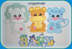 CRAFTECAFE SCRAPBOOK BABY SHOWER  PAGE CARD PREMADE HANDMADE PAPER PIECING #HANDMADE