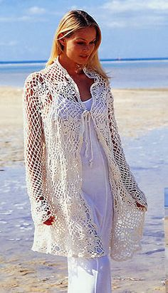 65-9 Crochet Cardigan or pullover in Muskat (pattern) by DROPS Design