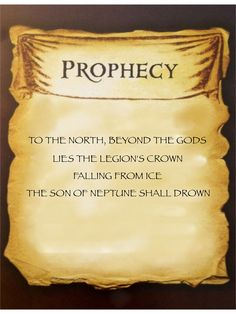 the son of Neptune prophecy