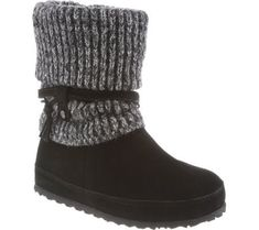 Bearpaw Women's Cosima Stain Resistant Boots, Black Cow Suede, Wool, Sheepskin Fur, 6 M Suede Boots, Ugg Boots, Kid Shoes, Me Too Shoes, Snow Boots Outfit, Black Cow, Snow Boots Women, Pull On Boots, Cool Boots