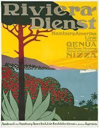 Riviera Dienst - Genova Nizza travel vintage poster #essenzadiriviera
