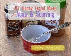 DIY Honey Facial Mask for Acne and Scarring - Natural Beauty Skin Care Honey Facial Mask, Facial Masks, Diy Skin Care, Skin Care Tips, Diy Beauty, Beauty Skin, Homemade Beauty, Fashion Beauty, Beauty Hacks