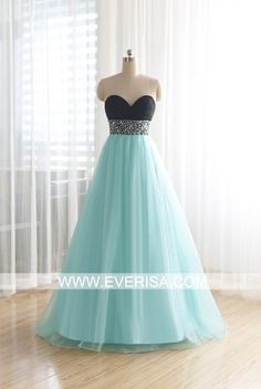 Cheap Blue A-Line/princess Sweetheart Floor Length organza prom dresses with sequins beading  -  $55.00 Form https://www.everisa.com/cheap-blue-a-line-princess-sweetheart-floor-length-organza-prom-dresses-with-sequins-beading