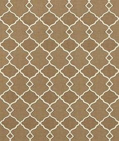 Chippendale Sun N Shade Fretwork Mocha -- keep this site in mind when ordering home decor fabric!