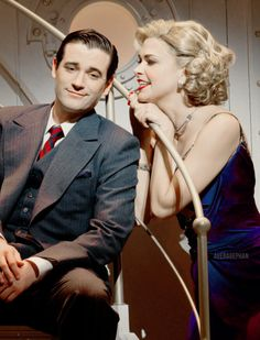 """averagephan:        Colin Donnell as Billy Crocker and Sutton Foster as Reno Sweeney in """"Anything Goes"""""""