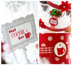 hot cocoa bar- love the signs