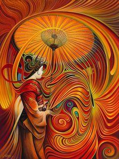 Dynamic Oriental Print - Ricardo Chavez-Mendez