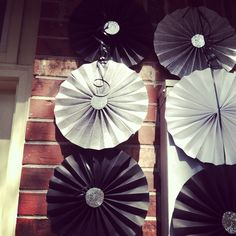 Pinwheel ideas- this was a kind of cover up for electrical boxes on the wall 60th birthday