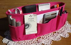My purse organiser, handmade by Connie at Divide & Conquer....so sturdy and just the best!!!