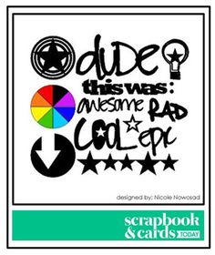 Scrapbook & Cards Today - Canada's scrapbooking magazine. Boys Rule cut files. *