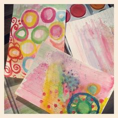"""14 gilla-markeringar, 1 kommentarer - iHanna (@ihannas) på Instagram: """"Index card painting prep with kids water color #creativity"""" Yellow Daisies, Index Cards, Challenges, Day, Painting, Instagram, Note Cards, Painting Art, Paintings"""